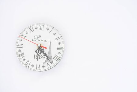 Wall clock on a white background.