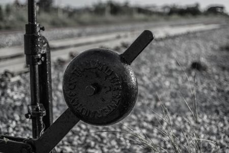 the vintage handle of railway change way