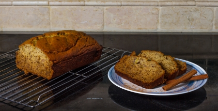 Banana bread on stovetop Stok Fotoğraf