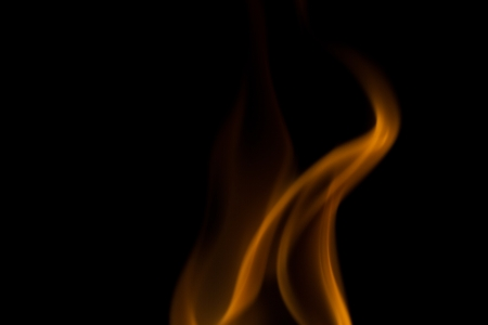 Triangular flame on black background