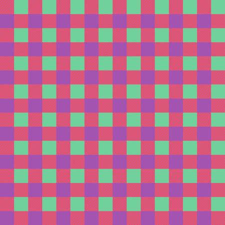 Colorful plaid seamless pattern. Tartan plaid for dress, skirt, flannel shirt, autumn, winter fabrics, background. Buffalo check gingham style. Vector flat illustration.