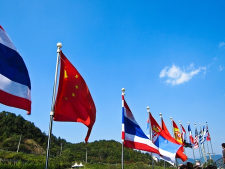 International flags. Stock Photo