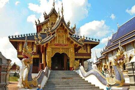 Thai temple decoration. photo