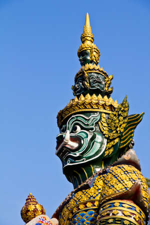 Giant guardian statue in Thai style photo