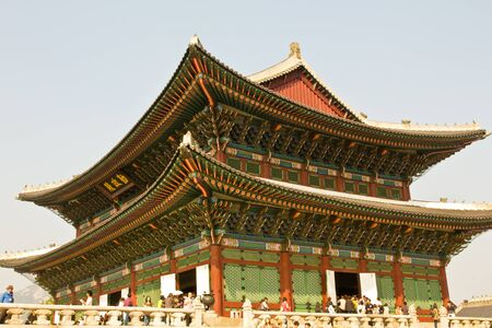 Gyeongbokgung Palace in Seoul, Korea Editorial