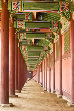 The hall in the palace of ancient Korea