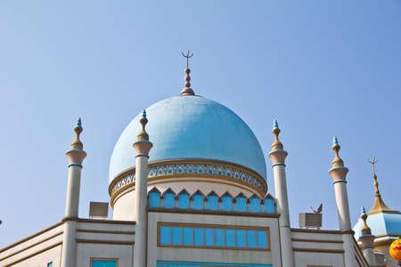 Blue dome churches   photo