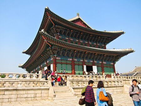 Gyeongbokgung Palace in Seoul, Korea Editorial