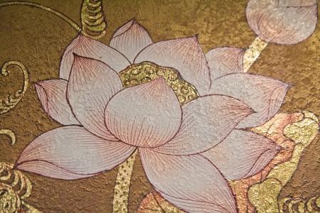 painting lotus Stock Photo - 13571975