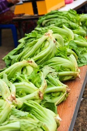 Fresh Mustard Green Leaves, of northern Thailand