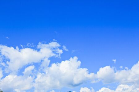 White clouds and blue sky  background  photo