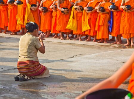 ordain: HD  New monk,  called person before as monk  in chiang mai, THAILAND 2012
