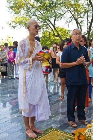 ordain: HD  New monk, called person before as monk