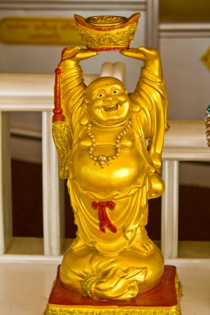 Smiling Buddha - Chinese God of Happiness, Wealth and Lucky  Stock Photo - 14266996