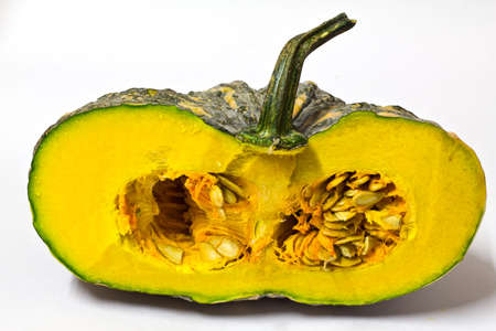 a piece of pumpkin isolated on a white background    photo