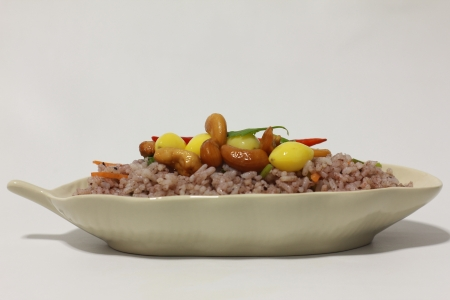 Chinese Cuisine - Fried Rice with Vegetables  photo