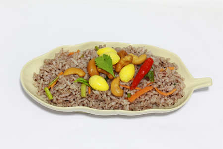 A plate of delicious fried rice