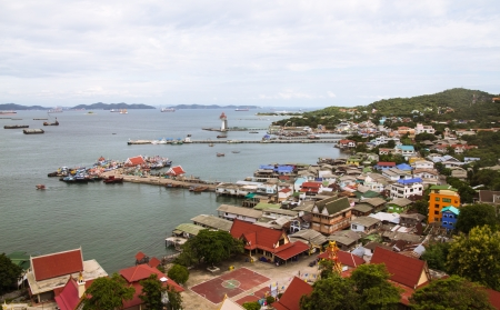 Harbor and waterfront view from above  Colorful, bright image Stock Photo - 16437994