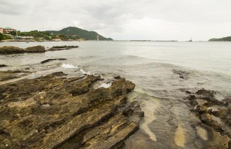 Rocks, beach Ko Si Chang, Thailand  Stock Photo