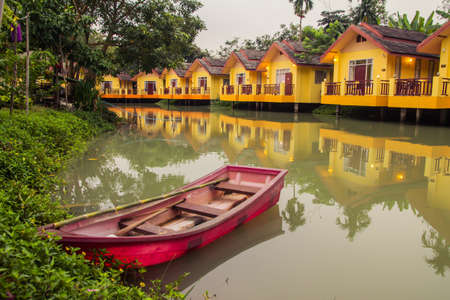 Yellow House Resort and boats