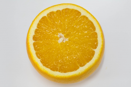 Orange fruit clipping pieces