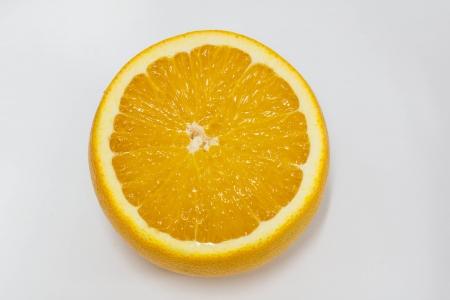 Part of fresh orange fruit