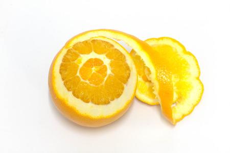 Fruit orange, Orange peel slices