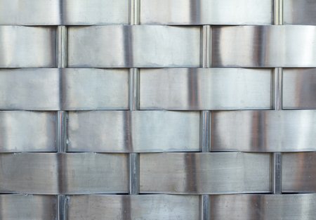 plating: Woven gray background metal, continuous pattern repetition Stock Photo