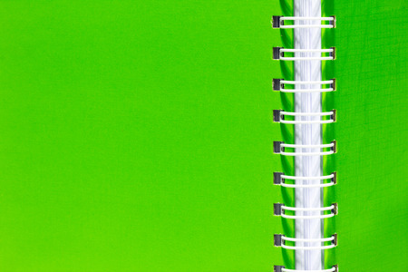 Stack of ring binder book or notebook,vertical green.