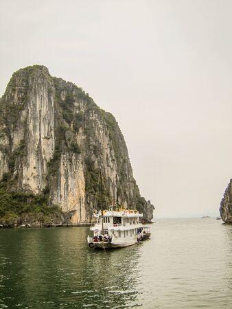 Halong Bay cruise in Halong Bay, Vietnam.