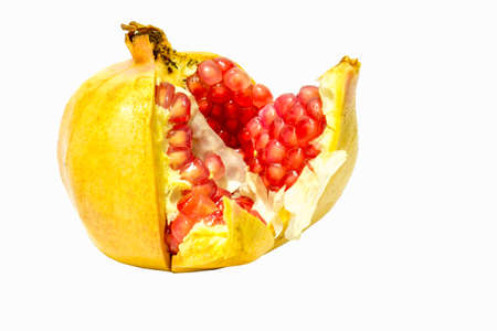 pomegranate fruit on white backgroung