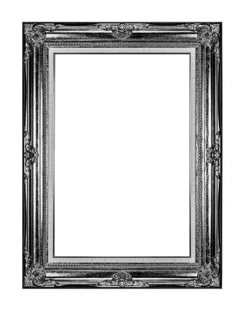 Vintage photo frame isolated on white background photo