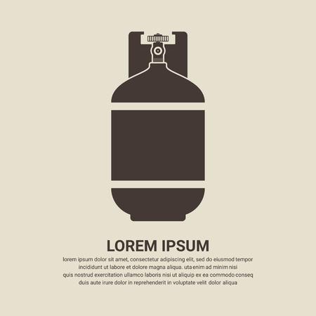liquefied: Gas bottle icon - Vector
