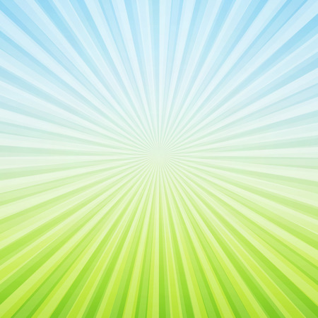 Bleu et les rayons du soleil vert fond - vecteur Banque d'images - 55793275