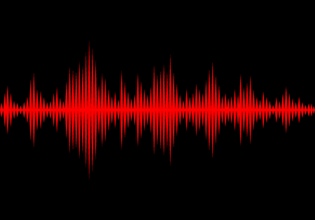 Le onde sonore oscillanti bagliore di luce, astratto tecnologia sfondo - Vector