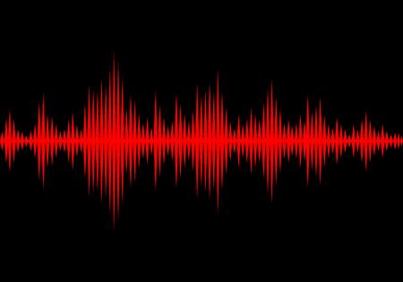 Schallwellen oszillierende Leuchten Licht, Zusammenfassung Technologie Hintergrund - Vektor-