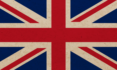 british isles: Grunge flag of United Kingdom - Vector