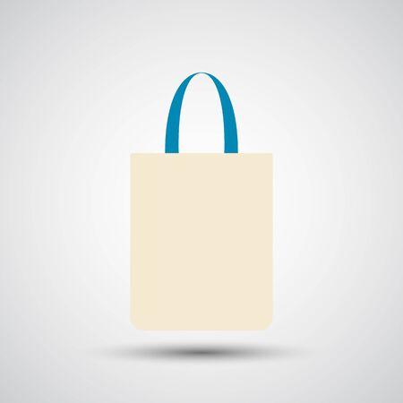 Fabric bag, Cotton bag, Eco bag icon - Vector