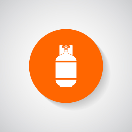 filling equipment: Gas bottle icon - Vector