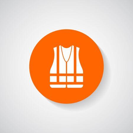 safety vest: Safety vest icon - Vector