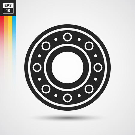 unused: Ball bearing icon - Vector