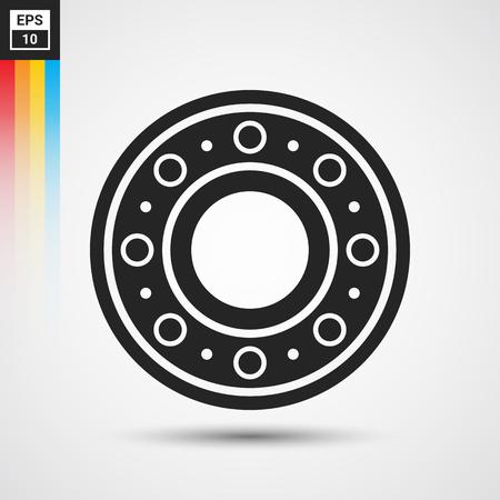Bola de rodamiento icono - vector