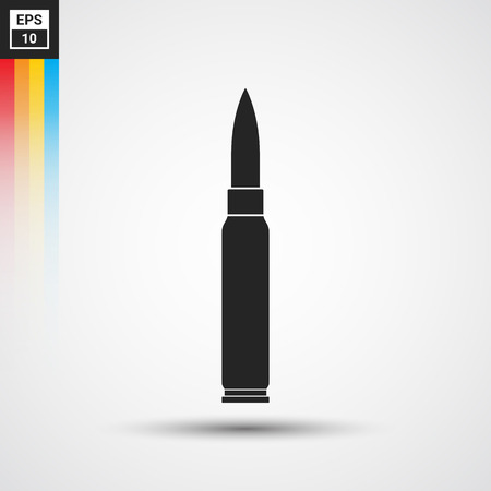 full jacket bullet: Rifle bullet icon - Vector