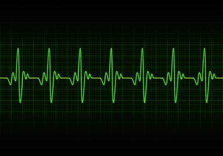 heart beats: Heart beats cardiogram - Vector