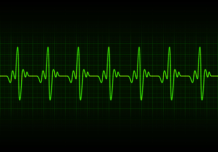 Heart beats cardiogram - Vector