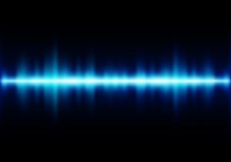 sonic: Sound waves oscillating glow light - Vector Illustration