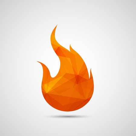 flames icon: Fire flames icon - Vector