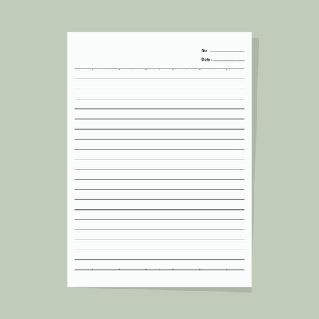 paper note: Note paper - Vector Illustration