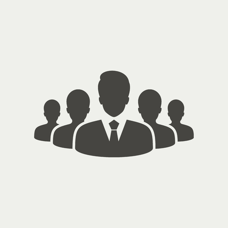 bussiness man: Group of people icon - Vector Illustration