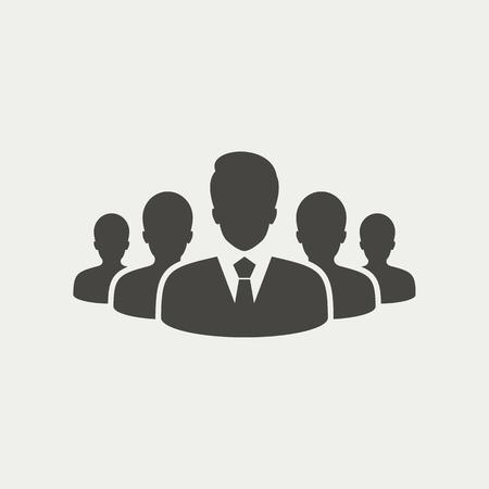 Grupo de personas icono - vector